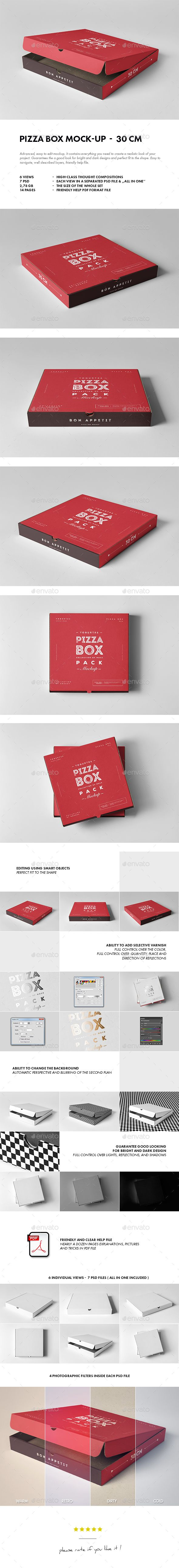 30 Pizza Box #Mock-up - #Food and Drink #Packaging Download here: https://graphicriver.net/item/30-pizza-box-mockup/19536591?ref=alena994