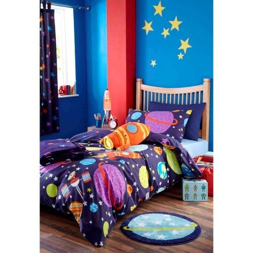 Outer Space Blue Single Duvet Cover and Pillowcase Set by Chic at Home   http    Bedroom IdeasSpace Theme. 75 best zach space themed room images on Pinterest   Themed rooms