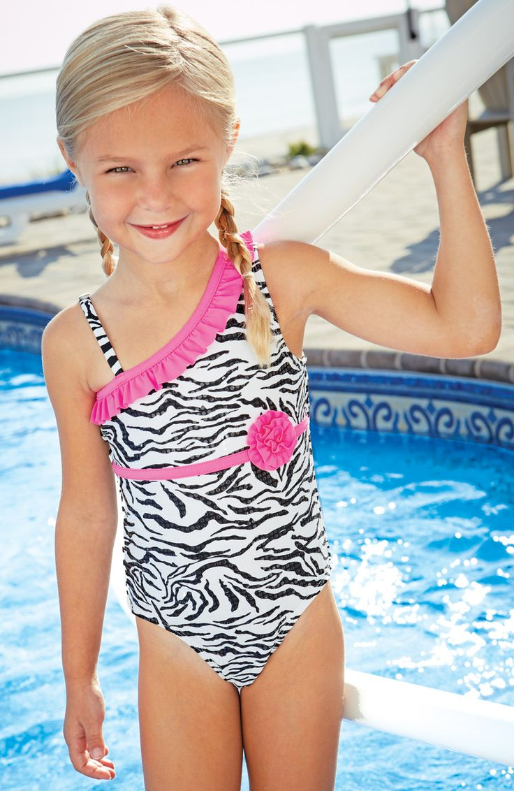 From CWDkids: Zebra Ruffle Shoulder One-Piece.