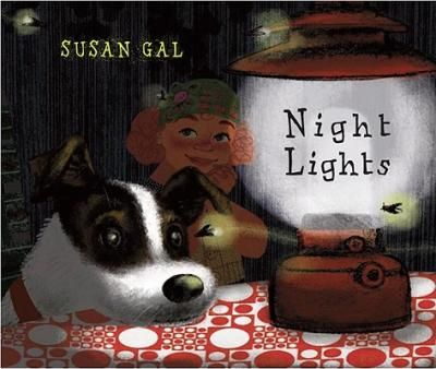 Gal tells the story of a child's evening routine through all the different kinds of lights that shine in the night. From the porch light by the front door to the firelight (and firefly light!) of a backyard cookout to the candles on a cake, everything seems to glow in this warm and cozy book. Full color.