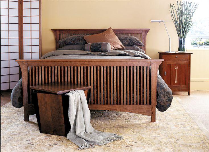 stickley mission spindle bed bedroom  furniture bedroom
