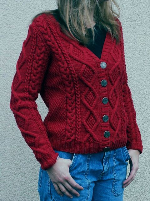 Must Have Cardigan pattern by Patons #knit #free_pattern