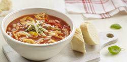 Tortellinisoep met groenten en spek -  Recept » Colruyt Culinair