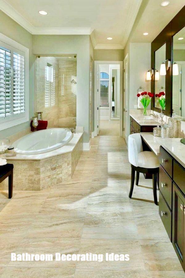 Make Your Bathroom Look Bigger With These Bathroom Decorating Ideas Master Bathroom Design Bathroom Design Master Bath Design