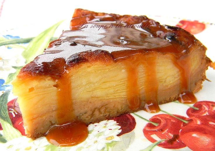 Gâteau invisible aux pommes et crème caramel au beurre salé