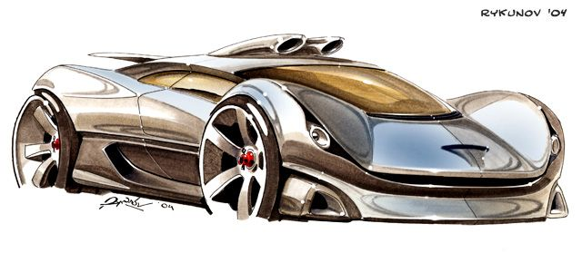 Concept car sketch 3 by ~Rykunov on deviantART