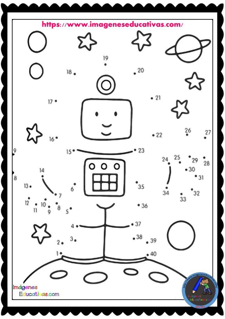 Unir Por Numeros 1 Al 50 7 Actividades Espaciales Astronomia Para Ninos Sistema Solar Para Ninos