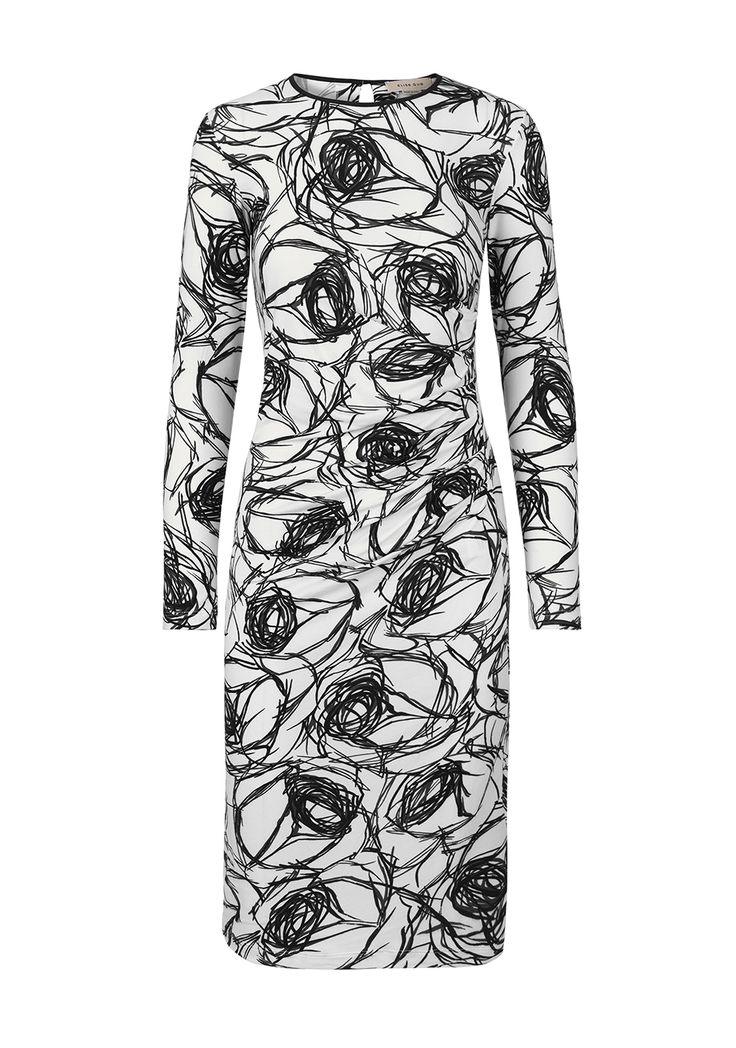Dress 9181-Print  ELISE GUG FW15