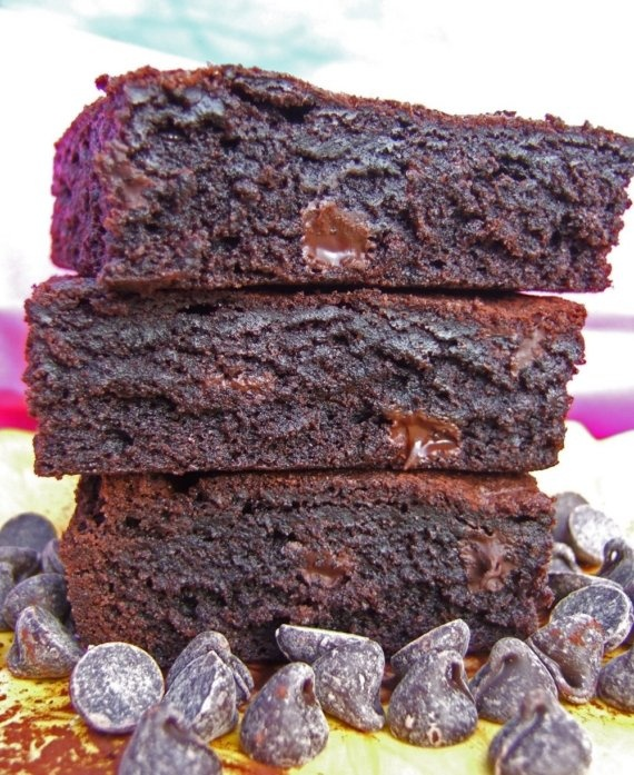Kahlua Double Chocolate Chunk Brownies - with Imported Chocolate