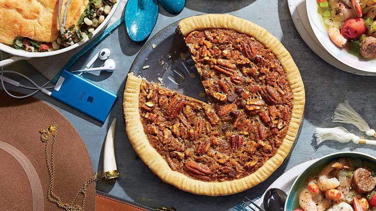 Chocolate-Bourbon Pecan Pie (00s) - 50 Years of Southern Recipes - Southern Living