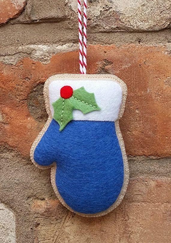 Felt Christmas mitten ornament                                                                                                                                                      More