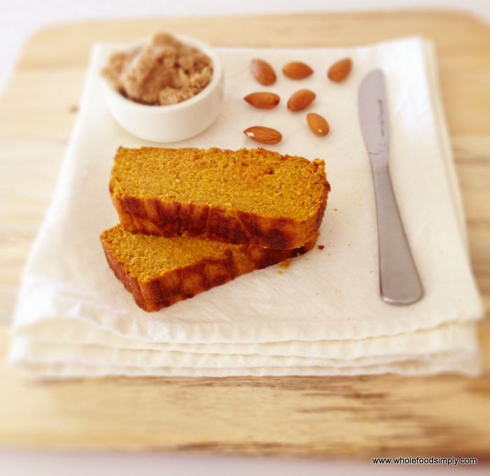 Pumpkin and almond loaf