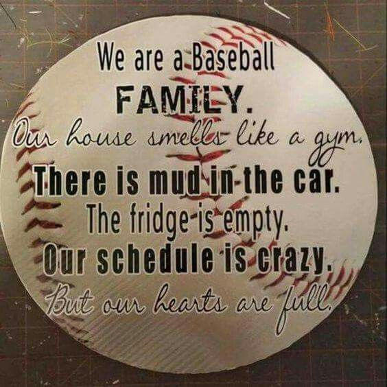 Yes, this is 100% accurate right now during baseball season, especially since we started coaching.