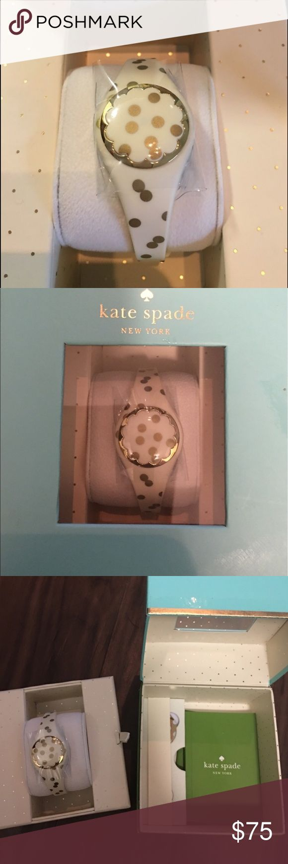 Kate Spade fitness tracker Trendy Kate Spade fitness tracker. Comes with box, batteries and booklet! Compatible with Android and IPhone 5 or higher. Bluetooth smart! kate spade Accessories Watches