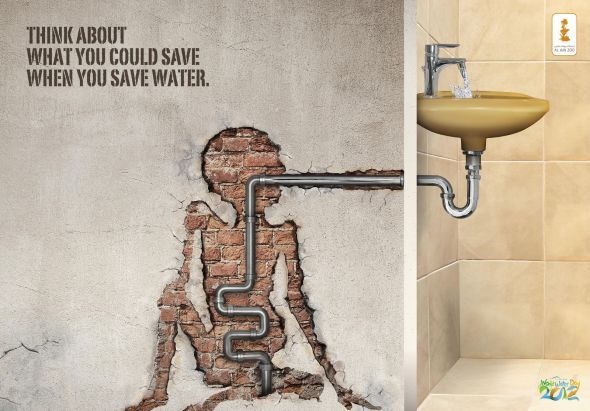 """World Water Day, """"Think about what you could save when you save water"""""""