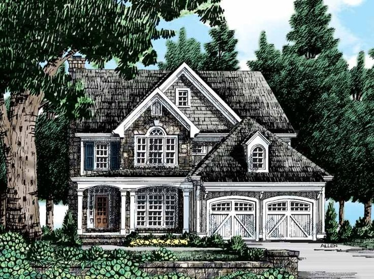 Best Dream Home Plans Images On Pinterest Colonial House - Country house plans 2 story home