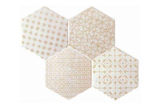 Souk Cream Patchwork Hexagon Tiles 15x15cm - Tons of Tiles