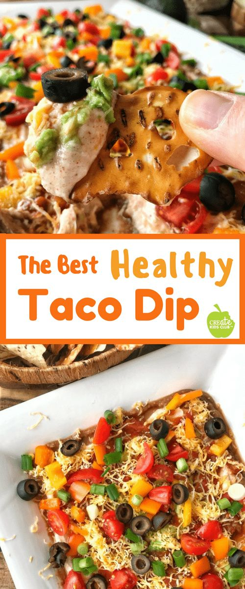 Easy 7- Layered Taco Dip Recipe #sponsored: This healthy layered taco dip is easy to make. A skinny, vegetarian taco dip made with refried beans, greek yogurt, spices, salsa, and loads of veggies, it's a simple appetizer for game day or parties. Enjoy with tortilla chips, pretzel chips or even veggie sticks, layered with guacamole, yogurt, cheese, with salsa. #timetocrunch @pretzelcrisps @latejulyorganic via @http://www.pinterest.com/createkidsclub