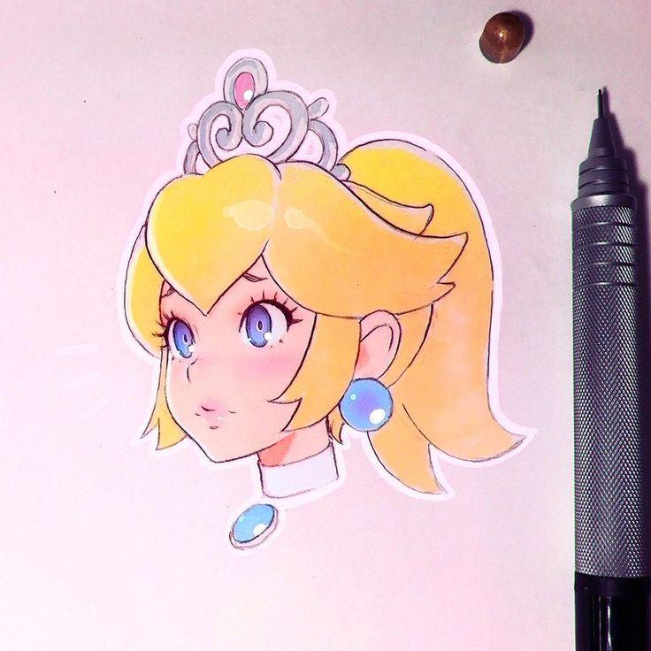 Princess Peach Sketch  kuvshinov_ilya on Instagram