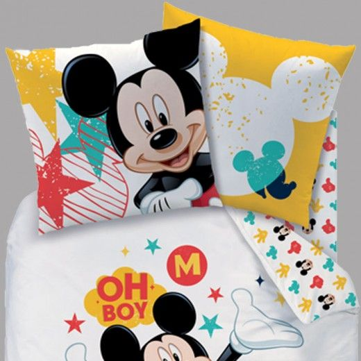housse de couette mickey + 1 taie