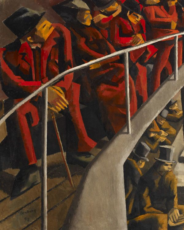 David Bomberg, Ghetto Theatre, 1920, Ben Uri Gallery & Museum