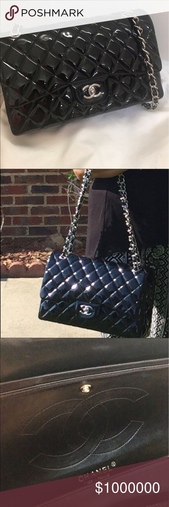 Chanel jumbo flap patent leather Stunning and classy perfect , chain is not moving very smooth ! please don't ask the obvious, comes with dust bag and authenticity card , here its $600 may be lower elsewhere just ask .. 😉 CHANEL Bags Shoulder Bags