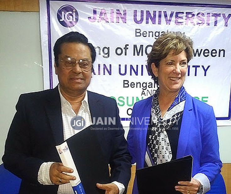 Jain University signed seven years partnership agreement with Camosun College, Canada for upliftment of sports education, training and skill development.