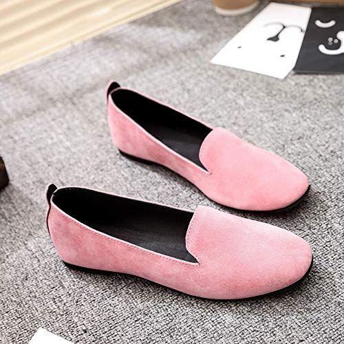 2495e86aa9347 DENER Women Ladies Girls Flats Loafers,Flock Slip on Round Toe Wide ...