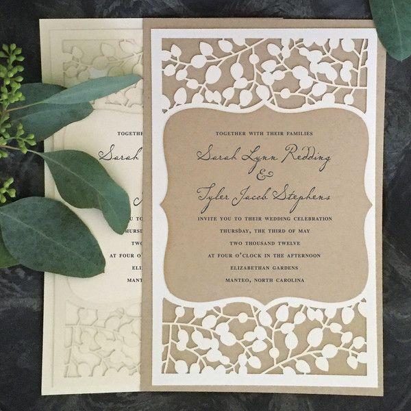 Paper Orchid's Hazel Wedding Invitation                                                                                                                                                                                 More