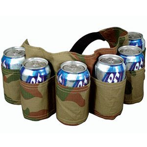 Six Pack Camo Holster- These beer belts are the ultimate tailgating or fishing trip accessory! (Product Number OV1236) $14.98 CAD