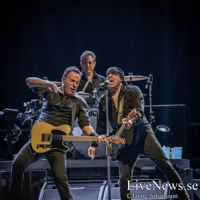 Bruce Springsteen, Max Weinberg and Stevie Van Zandt in Friends Arena, Stockholm, May 3, 2013