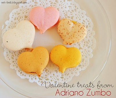 heart shaped french macarons!