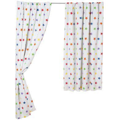 rainbow star blackout curtains for kids pair