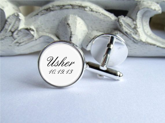 Wedding Cufflinks Usher Cufflinks by AllAboutYouCreations on Etsy, $24.00