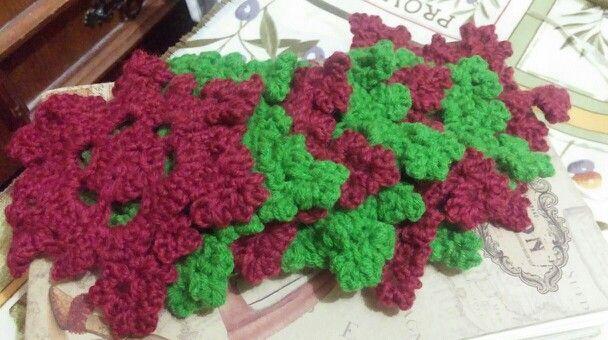 copos de nieve  a crochet ideales para el árbol