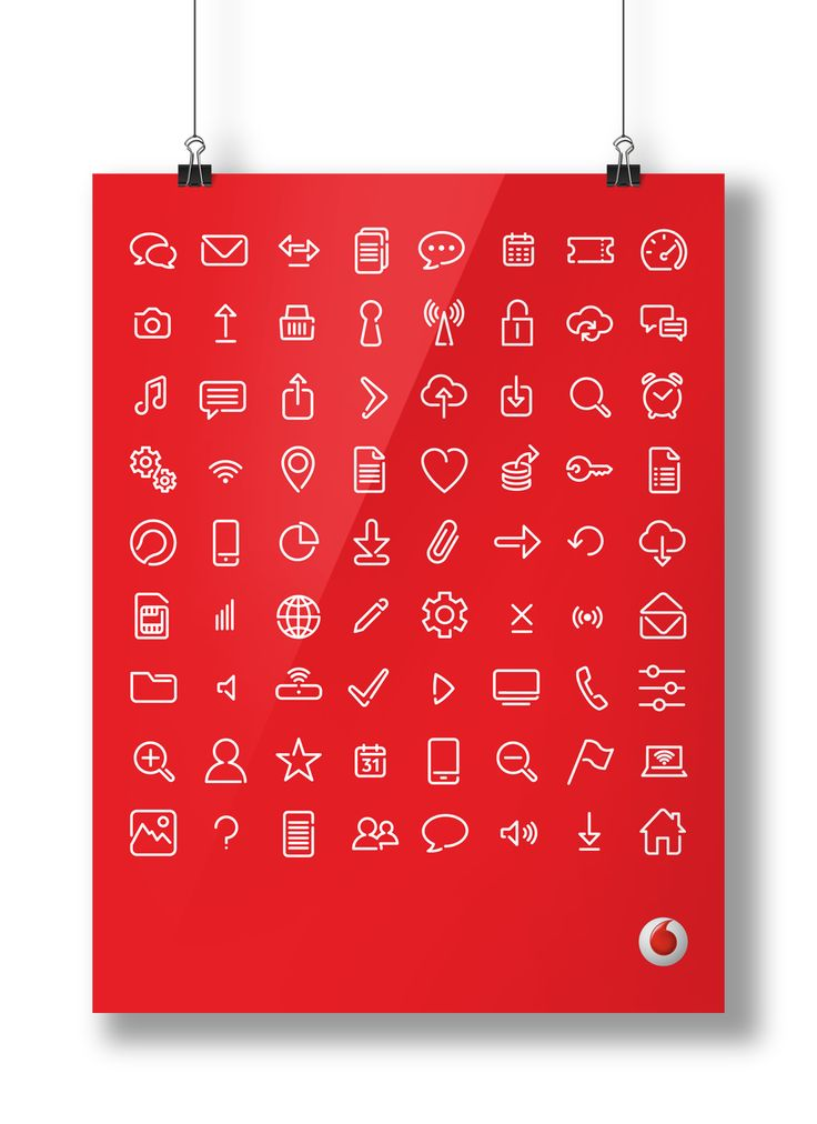 Global icon designs for Vodafone Group. For more examples of branding and brand identity, logos, identity guidelines and implementation go to www.globaligloo.com