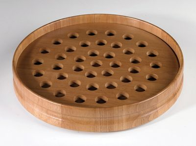 Pecan Stain Communion Tray  -