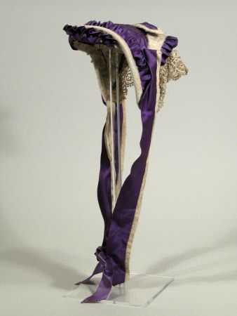 Mourning bonnet, 1865-1870. Via Snowshill Wade Costume Collection, Gloucestershire (Accredited Museum).