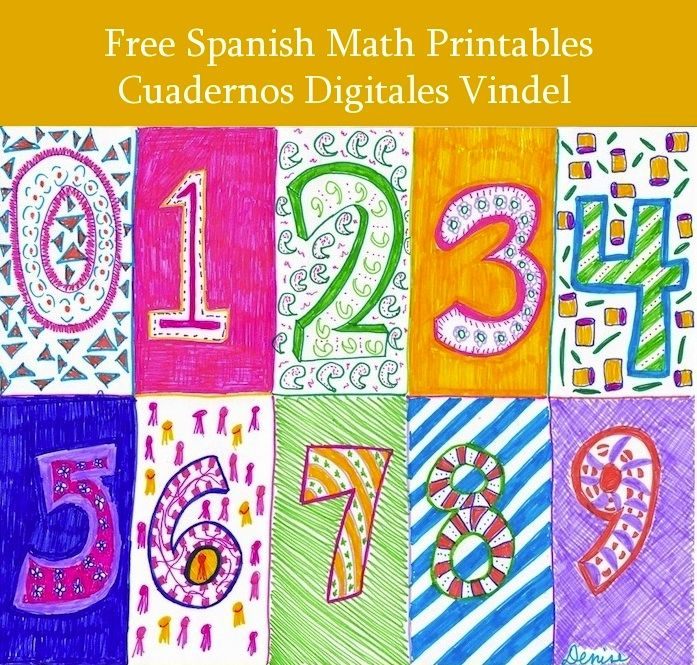 Spanish number activities: Los Cuadernos Digitales Vindel are a great authentic language resource and a good example of materials that can be successfully adapted to use for Spanish language learning. #Teaching Spanish #Spanish for kids #learning Spanish http://spanishplayground.net/spanish-numbers-math-free-printables/