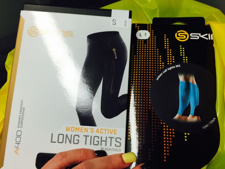 Got myself some new skins A400 full length tights and some skins calf socks at the smh half marathon expo
