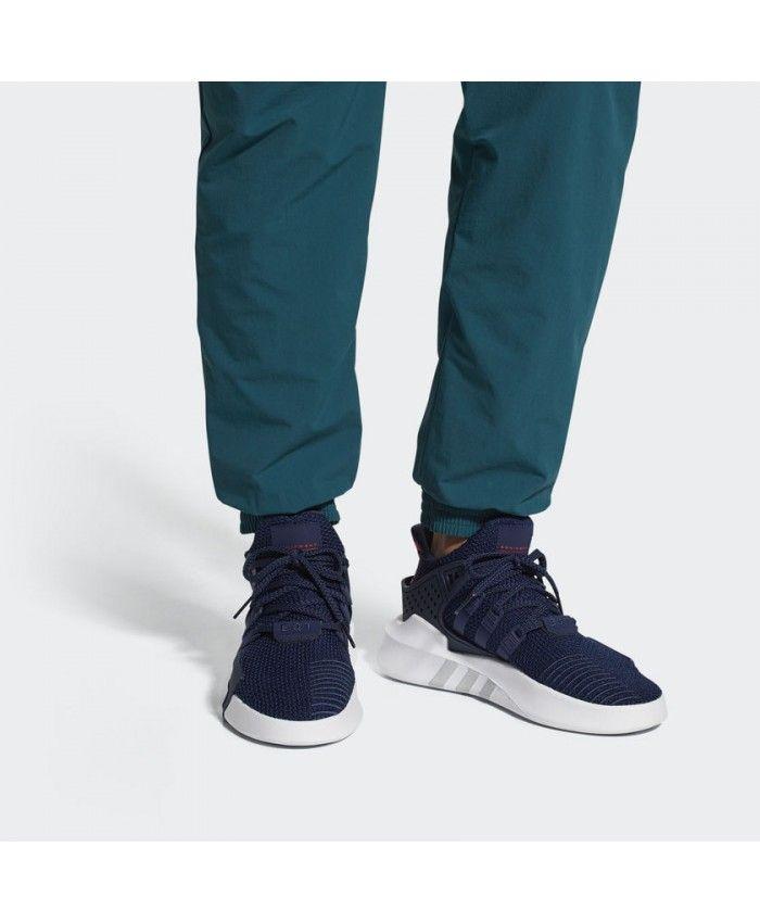 Adidas Mens Eqt Bask Adv Collegiate Navy Shoes  b0b0f13ae