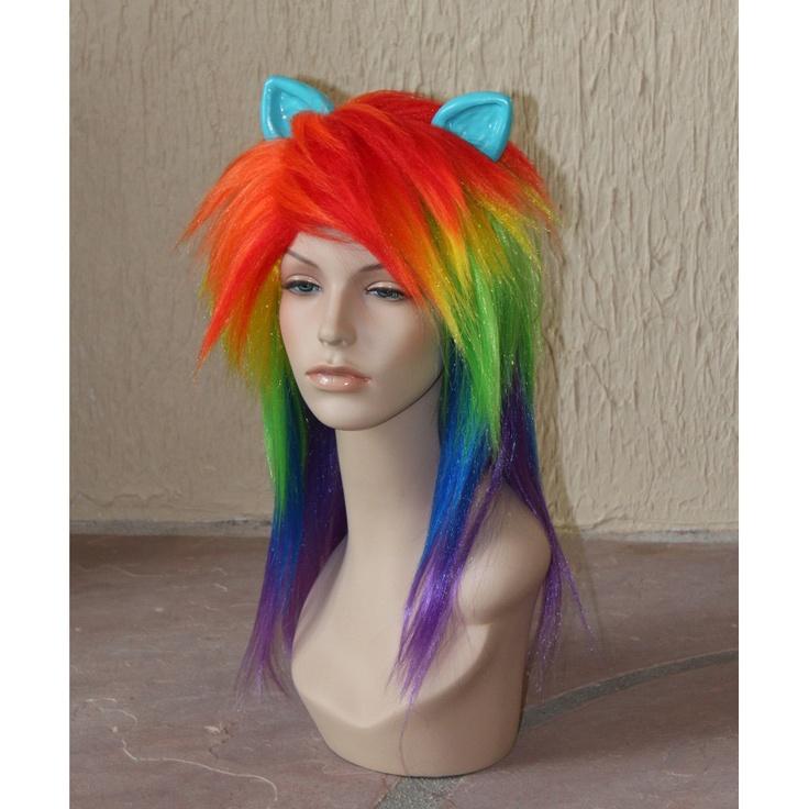 Rainbow Dash cosplay costume wig - My Little Pony - Friendship is Magic. $95.00, via Etsy.: Rainbow Dash, Rainbows Dash, Ponies, Dash Wigs, Rainbowdash, Cosplay Costumes, Costumes Wigs, Dash Cosplay, Cosplay Wigs