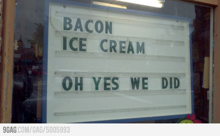 Bacon Ice Cream? Where is this place?