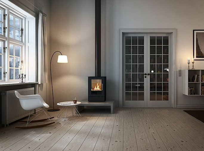 Rais Stoves |     Q-Tee 65 5kw Wood Burning Stove  (For the day room)