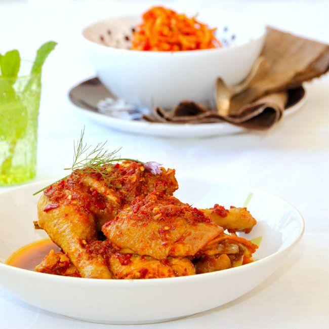 Sambal Ayam and Sambal Mangga. Indonesian Chili Chicken Serve With Spicy Mango Relish | ~Elra's Cooking~