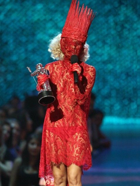 Red lace Lady GaGa
