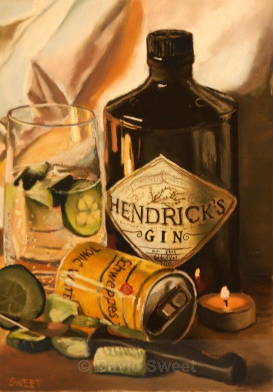 Hendrick's with Cucumber - Paintings