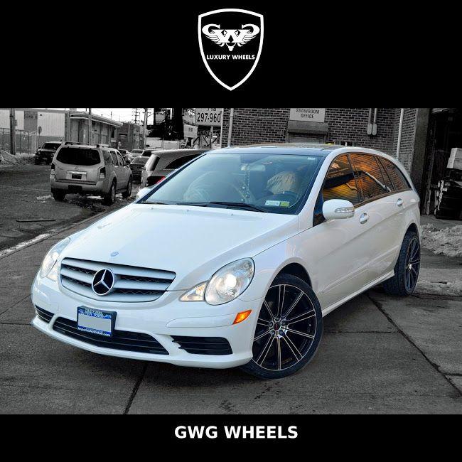 Mercedes Benz R 350 battles against New York cold weather. #MercedesBenz #FlowBlackMachinedFace #GWGWheels #picoftheday #rims