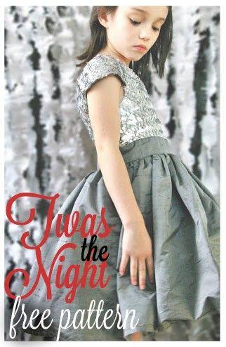 Twas the Night Frock: Free Pattern #sewing #freepattern #newyears #christmas #dress