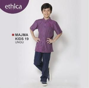 Baju Muslim Anak Koko Majma Kids 19 Ungu - Special Idul Adha